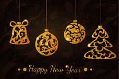 Boules de scintillement de nouvelle année Images stock