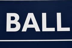Boules de tableau indicateur de base-ball photos stock