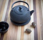 Boules de théière et de thé Photos stock