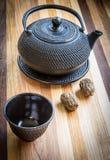 Boules de théière et de thé Image libre de droits