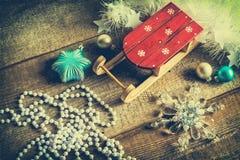 Boules de traîneau Santa Claus et de Noël Photo libre de droits