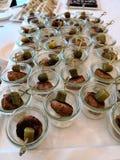 Boules de viande danoises servies sur un buffet Image libre de droits