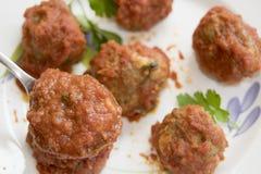 Boules de viande de porc Photographie stock libre de droits