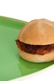 Boules de viande de sandwich d'un plat Photographie stock libre de droits