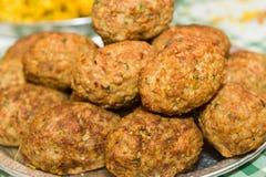 Boules de viande frites Image libre de droits