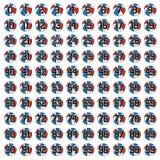 100 boules des basket-balls Illustration de Vecteur