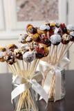Boules douces colorées de biscuit Photos libres de droits