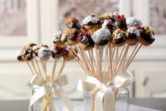 Boules douces colorées de biscuit Images libres de droits