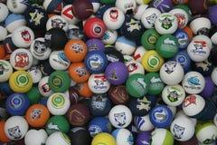 Boules du football Photos libres de droits