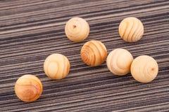 Boules en bois Photographie stock libre de droits