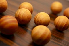 Boules en bois Photo stock