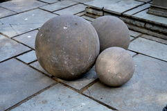 Boules en pierre Photos stock