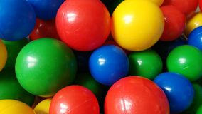 Boules en plastique Photographie stock