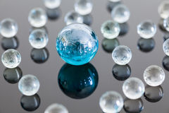 Boules en verre Photo libre de droits