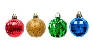 Boules en verre de Noël Photos libres de droits