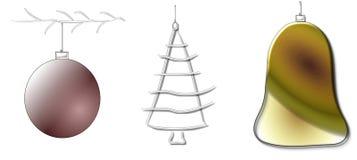 Boules et décoration de Noël Photos stock