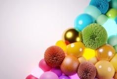 Boules et fond color?s abstraits de sph?res images libres de droits