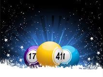 Boules et neige de bingo-test d'hiver illustration stock