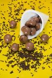 Boules et puces de chocolat Image libre de droits