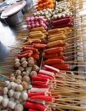 Boules et saucisses de poissons assorties Photo libre de droits