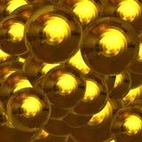Boules facettées par or Photographie stock libre de droits