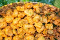 Boules frites de pâté au poisson Images libres de droits