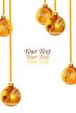 Boules jaunes de Noël Photo libre de droits