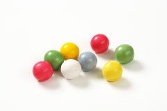 Boules jaunes de sucrerie photo stock