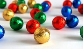 Boules lumineuses multicolores Images libres de droits