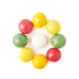 Boules multiples de chewing-gum d'isolement Photos libres de droits