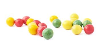 Boules multiples de chewing-gum d'isolement Photo stock