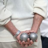Boules (Petanque) Game Stock Images
