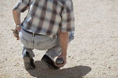 Boules (Petanque) game Royalty Free Stock Photography