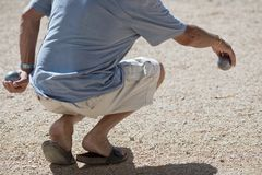 Boules (Petanque) Game Stock Photo
