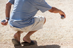 Boules (Petanque) game Stock Image