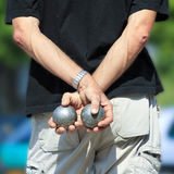 Boules Petanque game, Amiens Royalty Free Stock Photo