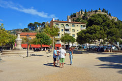 Boules (Petanque) game, French riviera Royalty Free Stock Images