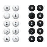 Boules pour l'ensemble de loterie illustration de vecteur