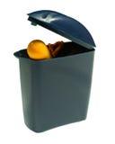Boules quies oranges dans la boîte bleue images libres de droits
