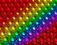 Boules réfléchies de modèle de boule de couleur d'arc-en-ciel Images libres de droits