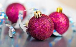 Boules rouges de Noël Photo stock