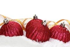 Boules rouges de Noël photo libre de droits