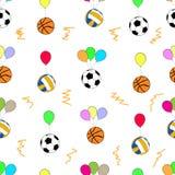 Boules sans couture sur des ballons Photos libres de droits