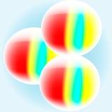 Boules variées réglées sur le fond de turquoise Photo libre de droits
