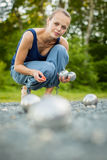 Boules (Petanque) game Royalty Free Stock Photo