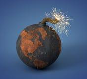 Boulet de canon comme terre images libres de droits