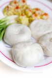 Boulette chinoise cuite à la vapeur Image libre de droits