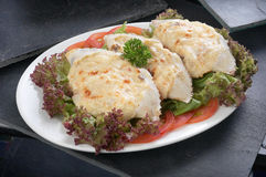 Boulette cuite au four par fromage Images stock
