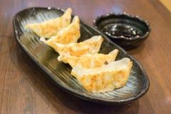 Boulette de Gyoza, nourriture japonaise populaire Photo stock