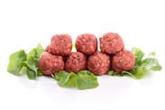 Boulette de viande crue Photographie stock